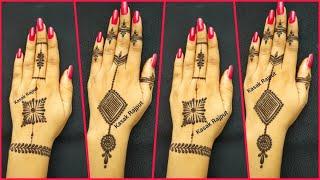 Simple henna mehndi designs for backhand |