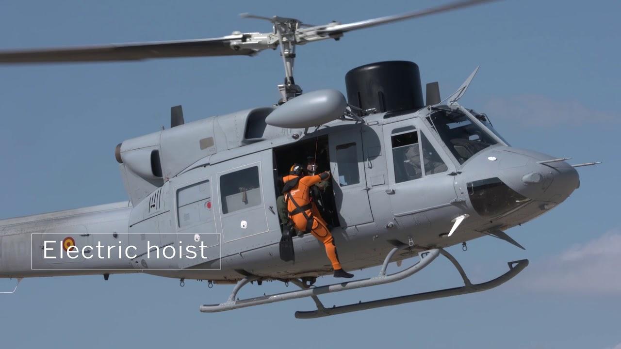 Elicottero 212 : Protezione antincendio un elicottero hh rischierato a birgi