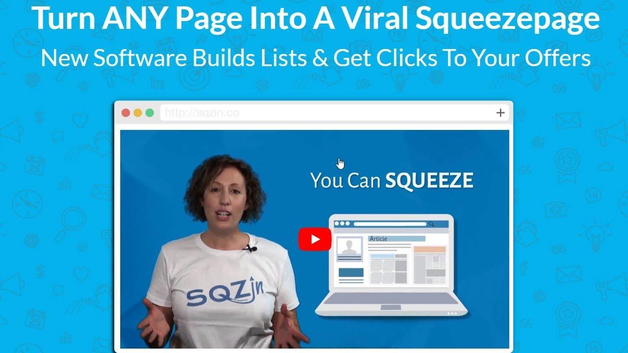 SQZin sales page