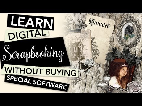 HOW TO Start with Digital Scrapbooking without buying Software | TUTORIAL