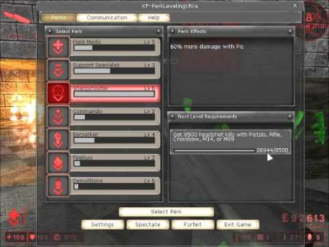 Killing Floor How To Get Level 6 In All Perks Easy