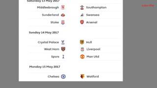 Barclays Premier League 2017 Table Results 36 Matchaday Epl Fixtures