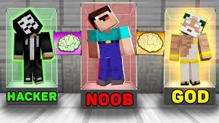 Minecraft NOOB vs PRO vs HACKER vs GOD : SUPER BRAIN EXCHANGE! in Minecraft! Animation!