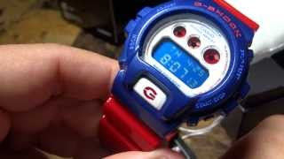 CASIO G-SHOCK REVIEW AND UNBOXING DW-6900AC-2JF RED WHITE BLUE