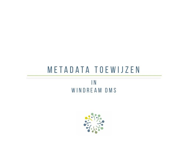 Een document type en metadata toewijzen aan een document in windream