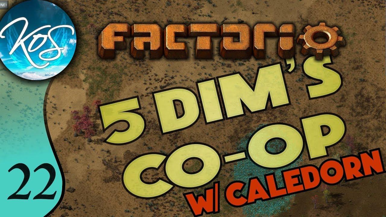 Factorio 5Dim's Co-op Ep 22: POWER POLE SPAGHETTI OCD - MP
