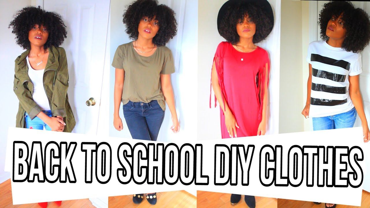 Beautiful DIY | EASY BACK TO SCHOOL DIY CLOTHES U0026 OUTFIT IDEAS + $300 GIVEAWAY!    YouTube