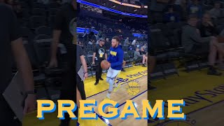 bts[9:16] Steph's tunnel lob, Dwight Howard 2-ball 🤔, Curry7 up close + MORE from Warriors pregame!