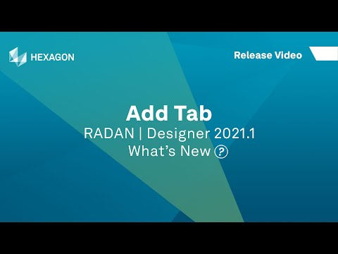 Add Tab | RADAN Designer 2021.1