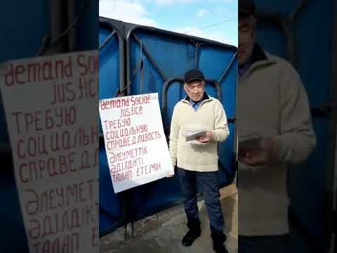 В Уральске человек намерен  голодать на площади Абая