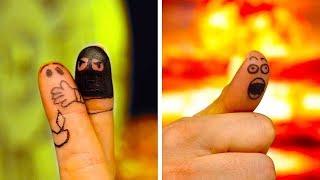 ٣٠ من فنون الأصابع الممتعة والرسوم الجنونية