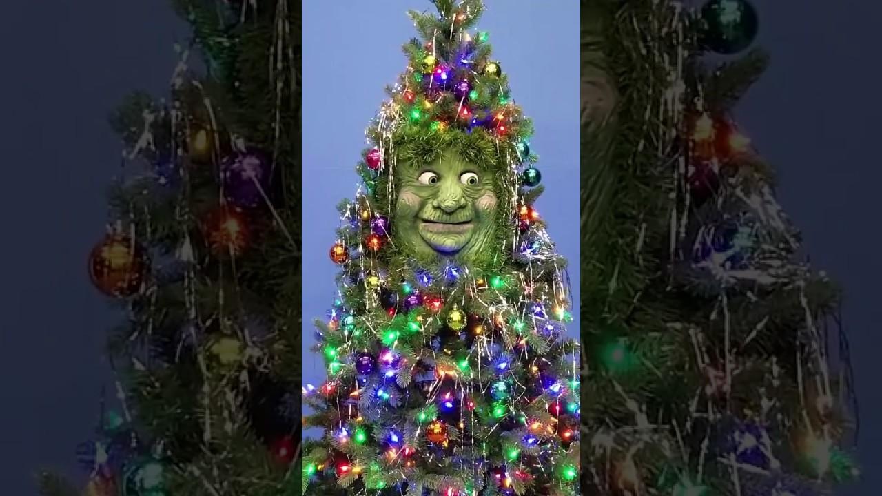 christmas tree buddy animatronic christmas tree - Animatronic Christmas Decorations