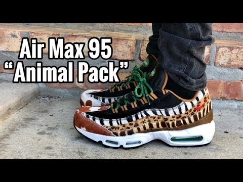 "new products 42f7c ededf Air Max 95 x atmos ""Animal Pack 2.0"" on feet"