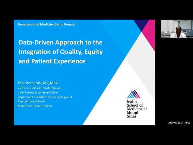 Data Driven Approach to the Integration of Quality, Equity and Patient Experience