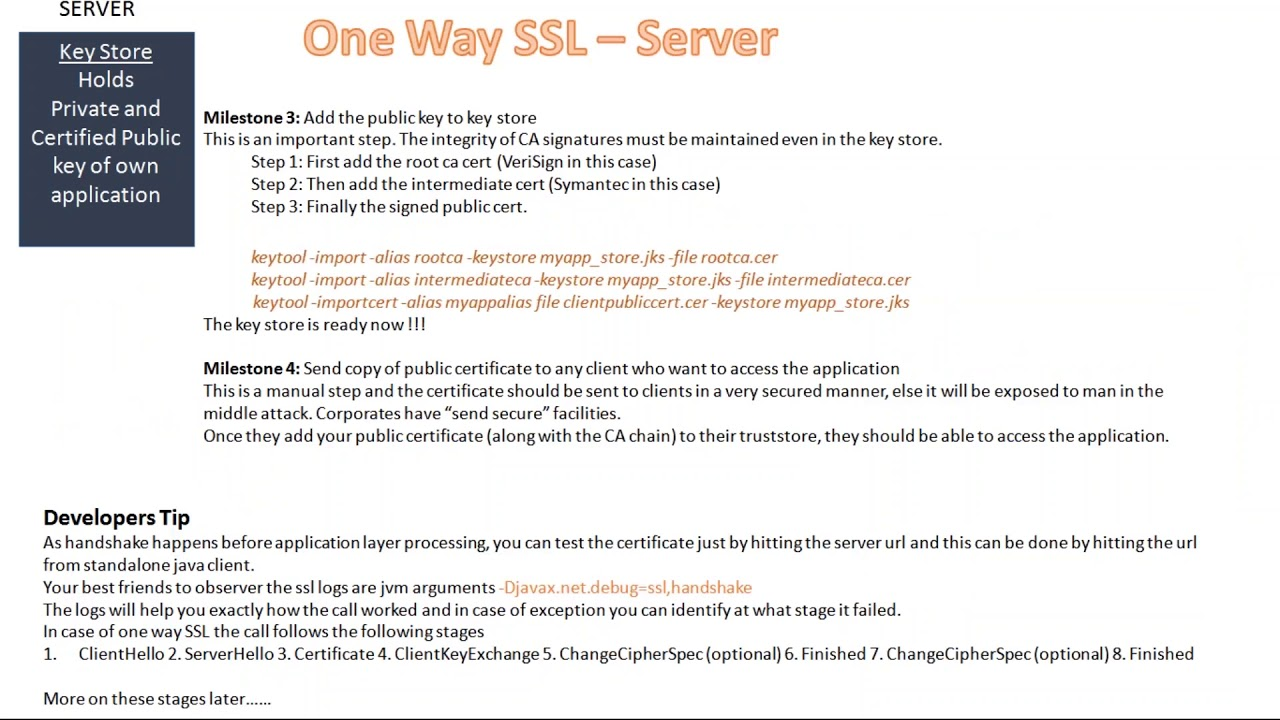 Security Ssl Setup One Way Two Way Ssl Youtube