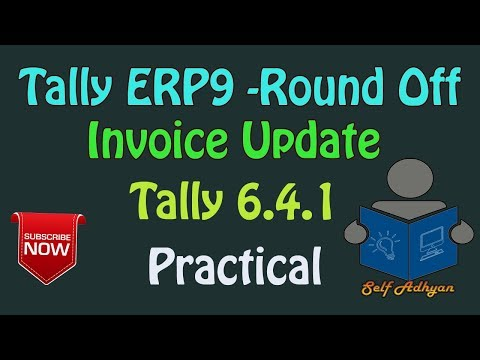 Round Ledger in Purchase- Sales Invoice Tally ERP9 | Learn Tally ERP9 in HIndi by Manoj Sir