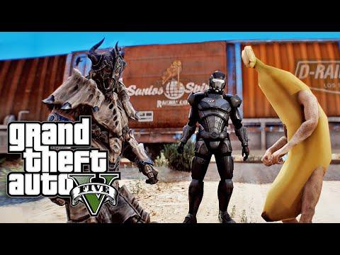 GTA V Starring Throthgar, TJ Laser & Banana!