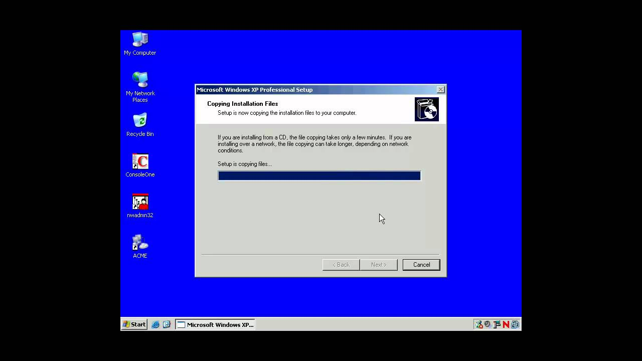 How to restore Windows XP using the Recovery Console