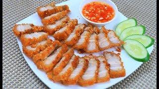 Cách làm Thịt Ba Chỉ Chiên Giòn Da thịt mềm thấm vị cực ngon