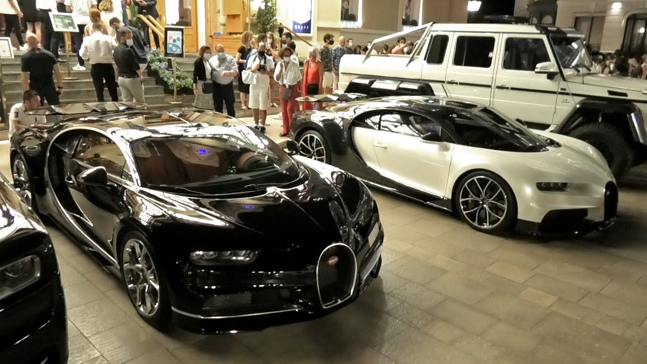 $10Million in BUGATTI CHIRONS came out at midnight at the Monaco Casino!
