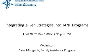 Integrating Two-Generation Strategies into TANF Programs