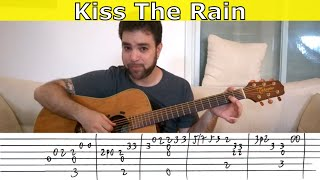 Fingerstyle Tutorial: Kiss the Rain (Standard Tuning) - Guitar Lesson w/ TAB