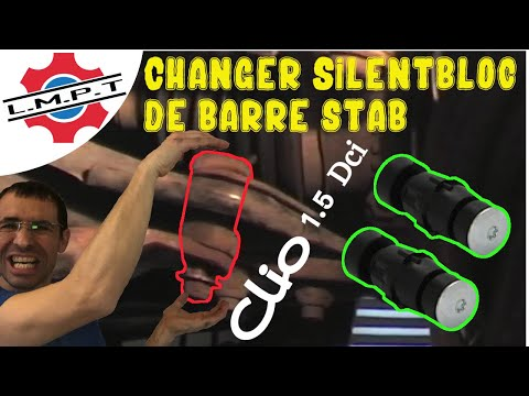 changement des silent blocs de barre stabilisatrice clio 2 youtube. Black Bedroom Furniture Sets. Home Design Ideas