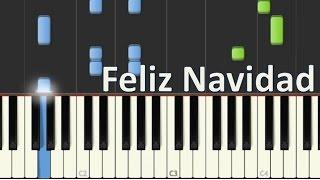 """Como Tocar """" Feliz Navidad"""" en Piano / Jose Feliciano / Tutorial - MoroMusicPiano"""