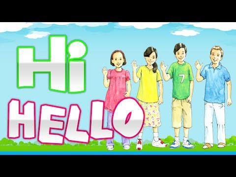 Hello! | Hi  | Goodbye | Learn English For Children | #1