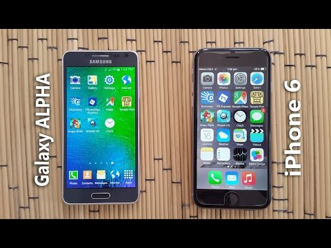 iPhone 6 vs Samsung Galaxy Alpha Speed Test!
