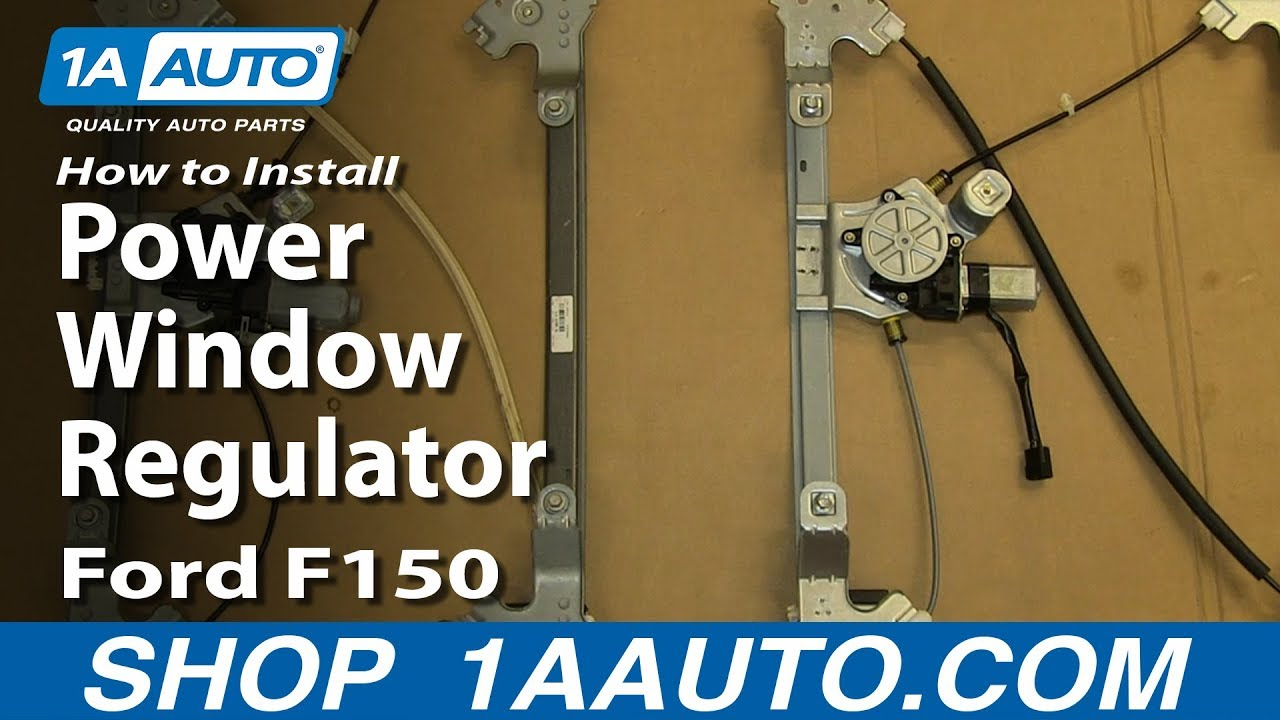 how to install replace rear power window regulator 2004