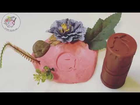 Rabbit and burrow play dough roller with sensory play dough jar