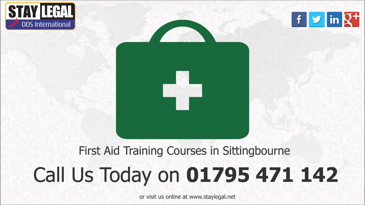 First Aid Training Courses Sittingbourne 01795 471 142 Dds