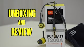 JBL T200A Earphones/Headset UNBOXING and REVIEW [Official] | Indian Consumer