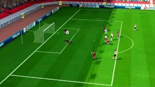 Fifa 2011 (Wii) Online Ranked Match#1 - Man United vs Barcelona (Dazran303 vs chaga)