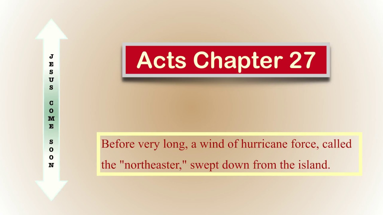 The Book of Acts 27, Audio Bible (NIV)