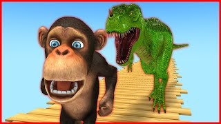 Temple run Funny monkey run away and fight with T-rex clan, Zombie mammoth | Mammoth life #36 screenshot 3