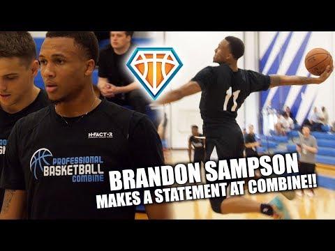 LSU's Brandon Sampson MAKES A STATEMENT at Professional Basketball Combine! | 2018 NBA Draft SLEEPER