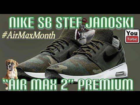 ad0c55df52 Nike SB Air Max 2 Stefan Janoski 2 Premium. #nikesb #airmax #StefanJanoski