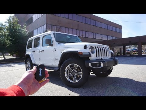 2019 Jeep Wrangler Unlimited Sahara: Start Up, Walkaround, Test Drive and Review