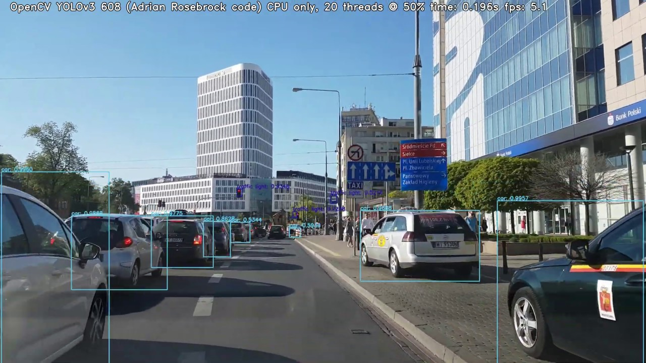 OpenCV YOLO Object Detection by Adrian Rosebrock (pyImageSearch) - YouTube