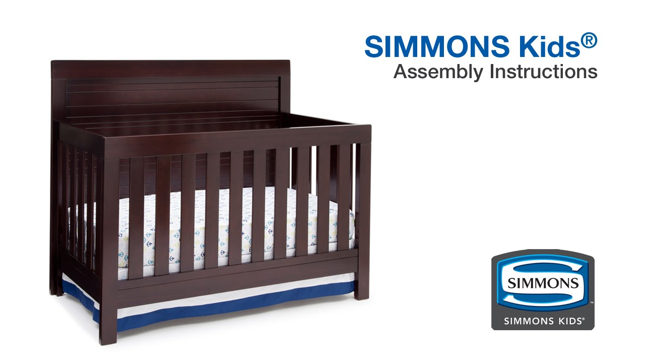 simmons kidsa rowen crib n more assembly video youtube