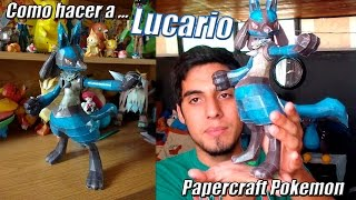Tutorial ★ Como hacer a Lucario - Pokemon Papercraft