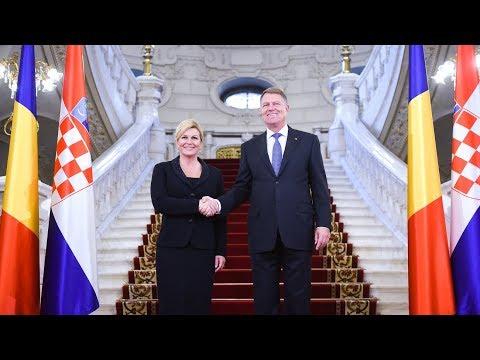 Declarație de presă comună cu Președintele Republicii Croația, Kolinda Grabar-Kitarović