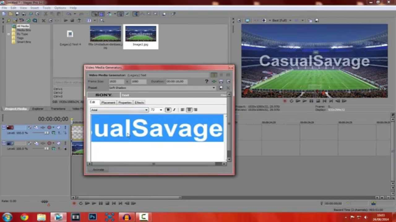 How To Add Text/Pictures To Videos - Sony Vegas Pro 12