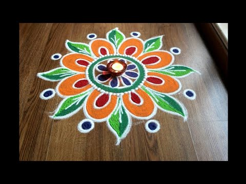 Simple , Easy and Quick freehand Rangoli designs with colours/ Rangoli Designs by Shital Daga