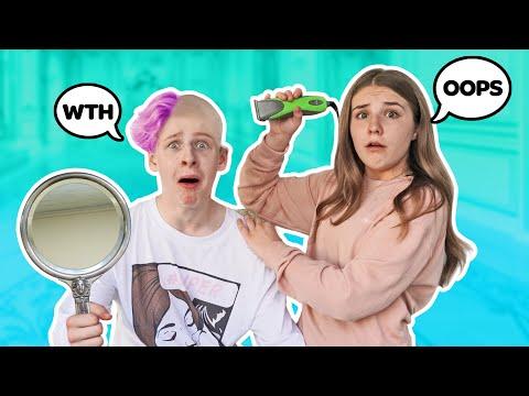 My GIRLFRIEND Did This To My Hair **Funny Quarantine Vlog 2**💇♂️😷|Lev Cameron indir