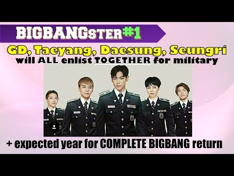 [WOW] BIGBANG will enlist for military TOGETHER in 2018 ♛ BIGBANGster#1