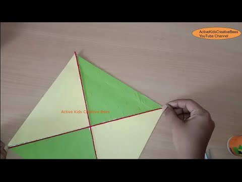 How to make a Decorative Paper Kite | Kite Decoration Ideas | Kids Craft