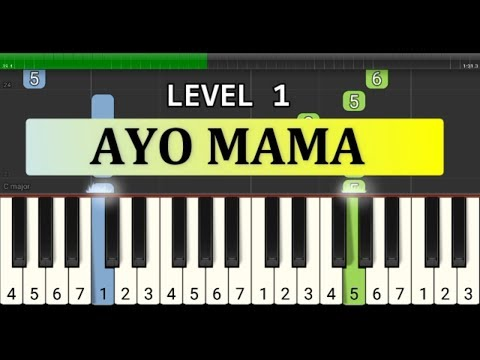 not piano ayo mama - tutorial level 1 - lagu daerah nusantara tradisional - maluku / ambon